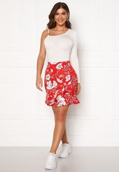 Chiara Forthi Lily flounce skirt Red / White Bubbleroom.no