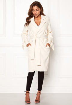 Chiara Forthi Lissabon soft coat Offwhite Bubbleroom.no