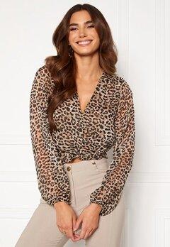 Chiara Forthi Lorenza blouse Leopard Bubbleroom.no