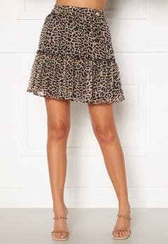 Chiara Forthi Lorenza mini skirt Leopard Bubbleroom.no