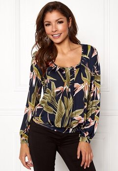 Chiara Forthi Luiza Top Darkblue/green/patterned Bubbleroom.no