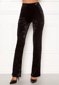 Chiara Forthi Lumina velvet bootcut pants Black Bubbleroom.no