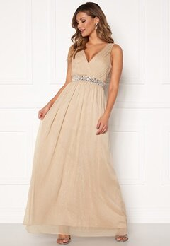 Chiara Forthi Madelaide Sparkling Gown Champagne Bubbleroom.no