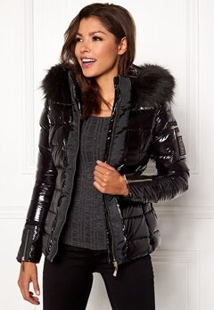 Chiara Forthi Madesimo Highgloss Down Jacket Black Bubbleroom.no