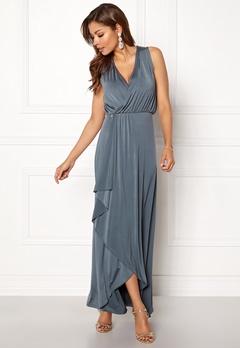 Chiara Forthi Malvina draped dress Grey Bubbleroom.no