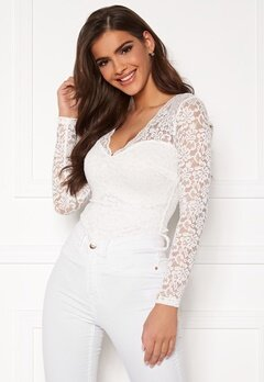 Chiara Forthi Margeaux lace top White Bubbleroom.no