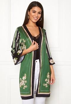 Chiara Forthi Marienela kimono Black / Green / Floral Bubbleroom.no