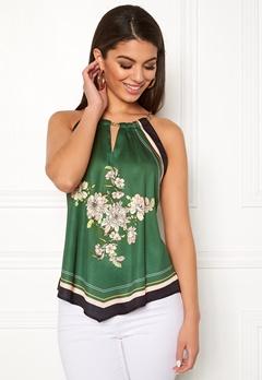 Chiara Forthi Marienela scarfs halterneck Black / Green Bubbleroom.no