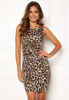 Chiara Forthi Marjorie Sleeveless Dress Leopard Bubbleroom.no