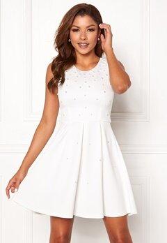 Chiara Forthi Marla pearl dress White Bubbleroom.no