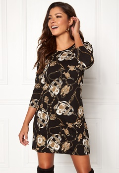 Chiara Forthi Maura Dress Black / Gold / Patterned Bubbleroom.no