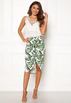 Chiara Forthi Mauritius wrap skirt White / Green / Patterned Bubbleroom.no