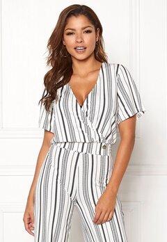 Chiara Forthi Mauritius wrap top Striped / White / Blue Bubbleroom.no