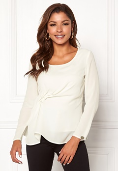 Chiara Forthi May draped top Winter white Bubbleroom.no