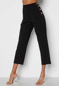 Chiara Forthi Mercede soft button trousers Black bubbleroom.no