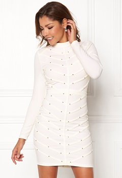 Chiara Forthi Micah studded dress Offwhite / Gold Bubbleroom.no