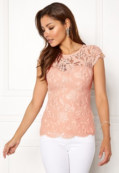Chiara Forthi Michelle Lace Top Old rose Bubbleroom.no