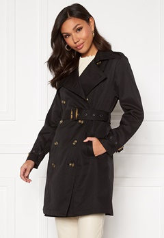 Chiara Forthi Moneglia Trench Coat Black Bubbleroom.no