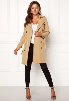 Chiara Forthi Moneglia Trench Coat Camel Bubbleroom.no