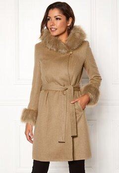 Chiara Forthi Monterosso Fur Coat Camel Bubbleroom.no
