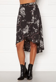 Chiara Forthi Nadia wrap skirt Black / Patterned Bubbleroom.no