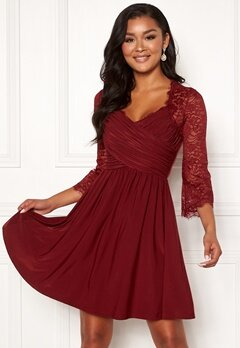 Chiara Forthi Nathalia Dress Wine-red Bubbleroom.no