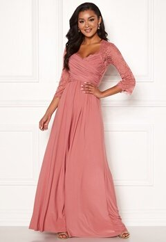 Chiara Forthi Nathalia Maxi Dress Dark pink Bubbleroom.no
