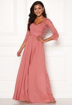 Chiara Forthi Nathalia Maxi Dress Dark pink Bubbleroom.no