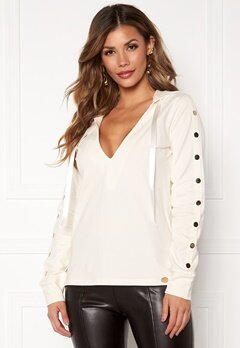 Chiara Forthi Nerina buttoned Hoody Offwhite Bubbleroom.no