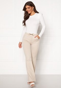 Chiara Forthi Nicola boot cut pants Beige Bubbleroom.no