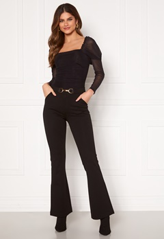 Chiara Forthi Nicola boot cut pants Black Bubbleroom.no