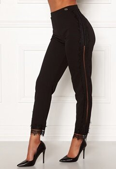 Chiara Forthi Nikita Lace Pants Black Bubbleroom.no