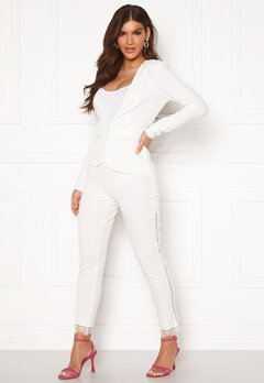 Chiara Forthi Nikita Lace Pants White Bubbleroom.no