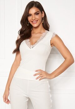 Chiara Forthi Nikita Lace Top White Bubbleroom.no