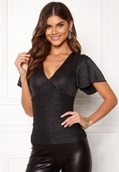 Chiara Forthi Nunzia sparkle top Black / Silver Bubbleroom.no