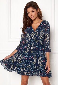 Chiara Forthi Oria Dress Blue / Floral Bubbleroom.no