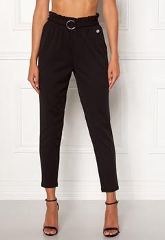 Chiara Forthi Paperbag Belt Pantaloni Black Bubbleroom.no