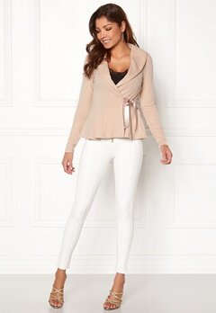 Chiara Forthi Peplum Wrap Cardi Light pink Bubbleroom.no