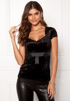 Chiara Forthi Piubella Velvet Top Black Bubbleroom.no