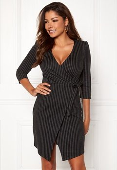Chiara Forthi Portia suit dress Black / Striped Bubbleroom.no