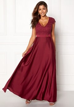 Chiara Forthi Princess Gown Bordeaux Bubbleroom.no