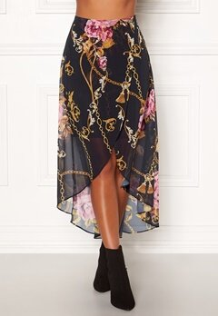 Chiara Forthi Rachelle Highlow Skirt Dark blue Bubbleroom.no