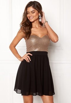 Chiara Forthi Reese sequin dress Black / Rose gold Bubbleroom.no