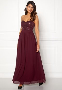 Chiara Forthi Reese sequin gown Wine-red Bubbleroom.no