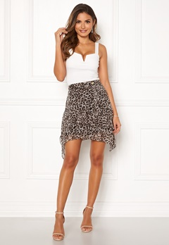 Chiara Forthi Renata Flounce Skirt Leopard Bubbleroom.no