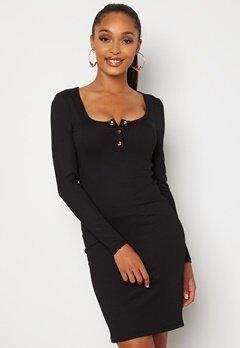Chiara Forthi Richess rib dress Black Bubbleroom.no