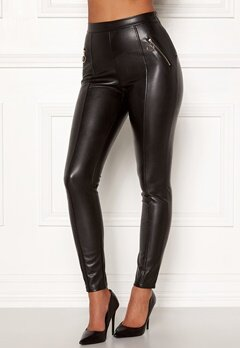 Chiara Forthi Rivalta faux leather pants Black Bubbleroom.no