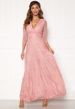 Chiara Forthi Riveria Lace Gown Dusty pink bubbleroom.no