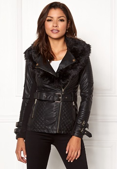 Chiara Forthi Roma Fake Leather Jacket Black Bubbleroom.no