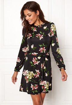 Chiara Forthi Romea dress Black / Floral Bubbleroom.no